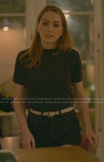 Dani's keyhole blouse on The L Word Generation Q