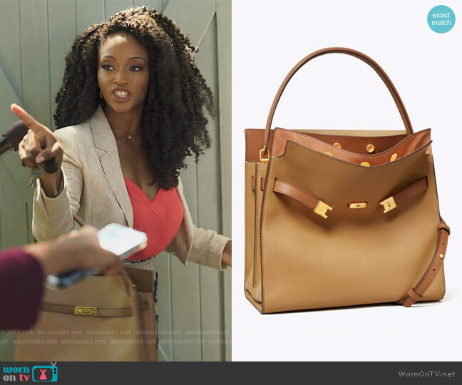 Lee Radziwill Double Bag by Tory Burch worn by Angela Vaughn (Yaya DaCosta) on Our Kind of People