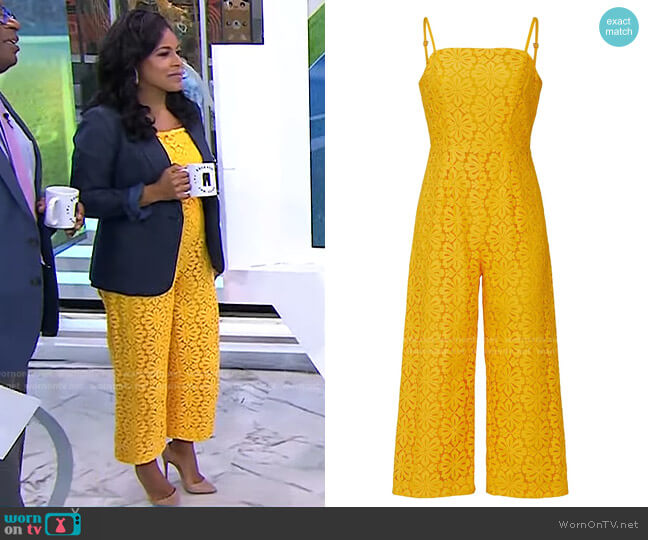 Lily Jumpsuit by Trina Turk worn by Sheinelle Jones  on Today