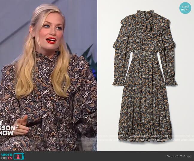 Annalisa Dress by Ulla Johnson worn by Beth Behrs on The Kelly Clarkson Show worn by https://www.kellyclarksonshow.com/ (NBC) on Uncategorized