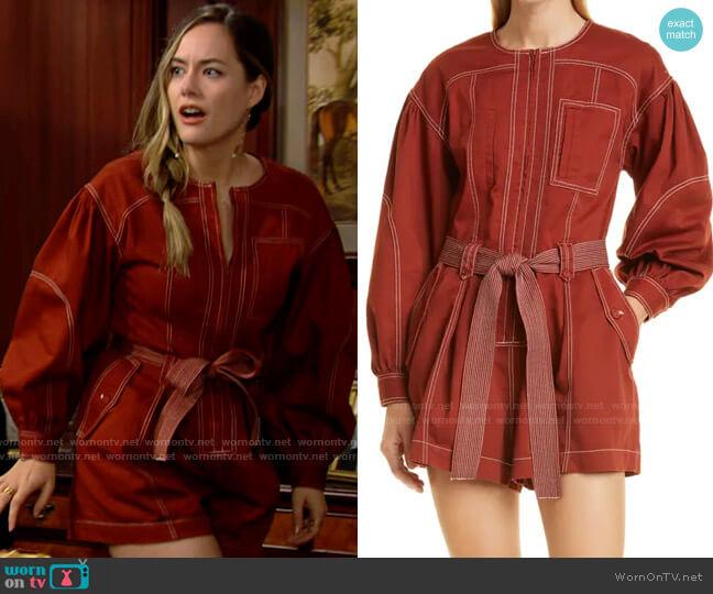 Ulla Johnson Delta Playsuit worn by Hope Logan (Annika Noelle) on The Bold & the Beautiful