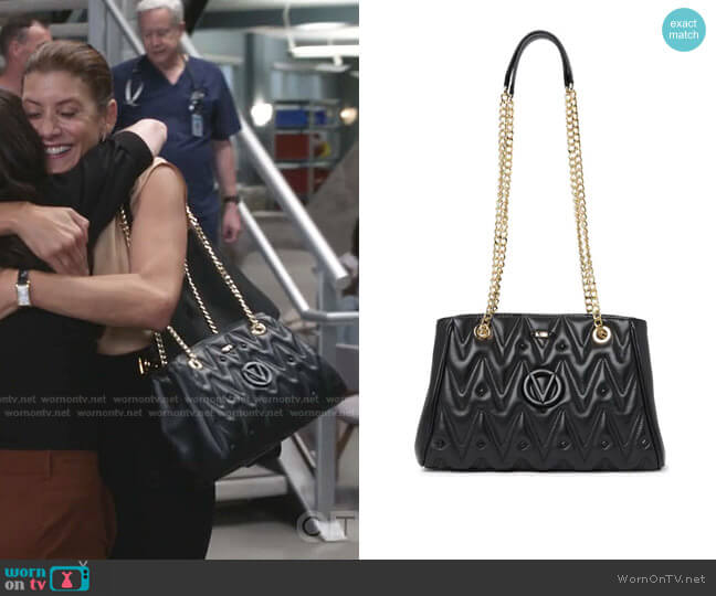Angelina Quilted Leather Shoulder Bag by Valentino by Mario Valentino