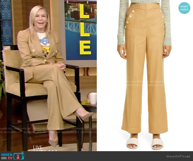 Eliora Trousers by Veronica Beard  worn by Chelsea Handler on Live with Kelly and Ryan