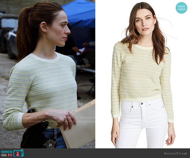 Veronica Beard Boise Sweater worn by Kim Burgess (Marina Squerciati) on Chicago PD