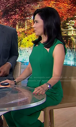 Vicky's green cutout jumpsuit on Today