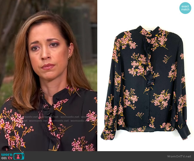 Target Who What Wear Floral Blouse worn by Mireya Villarreal  on CBS Mornings