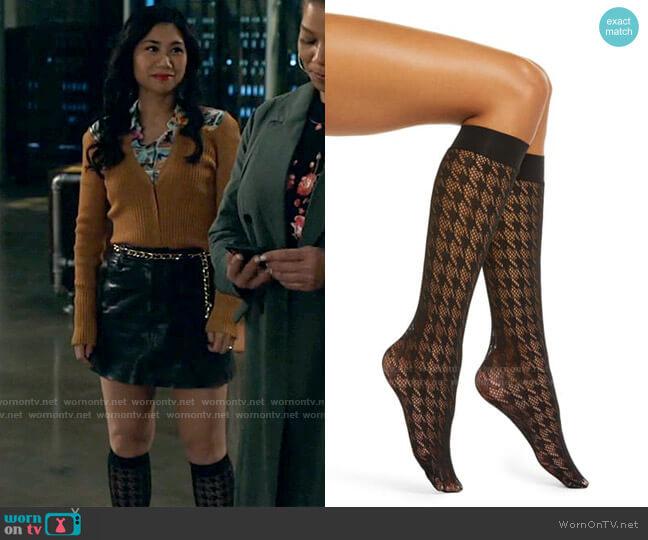 Wolford Dylan Knee Socks worn by Melody Bayani (Liza Lapira) on The Equalizer