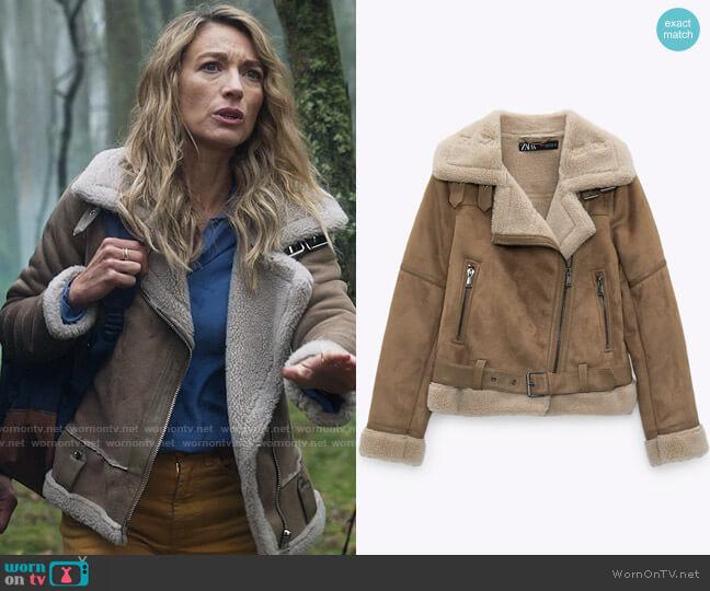 Zara Double Faced Jacket worn by Eve Harris (Natalie Zea) on La Brea
